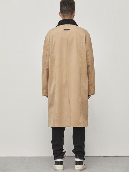 D.Prique Oversized Long Coat - Beige
