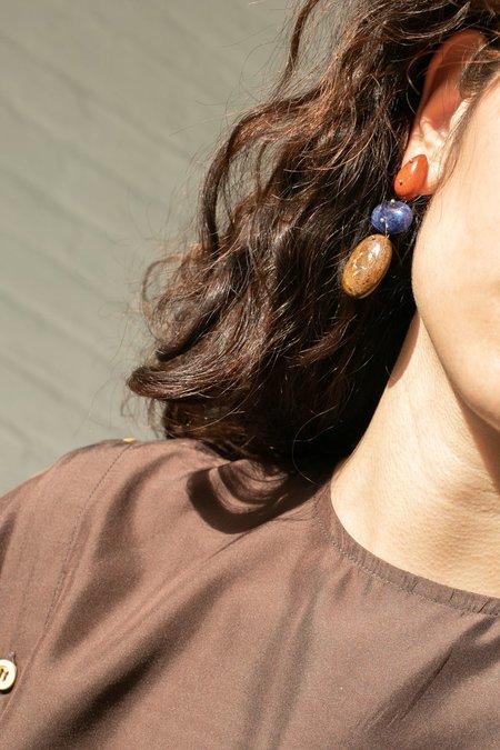 Jessica Winzelberg Mobile Earrings - Jasper/Sodalite/Bronzite