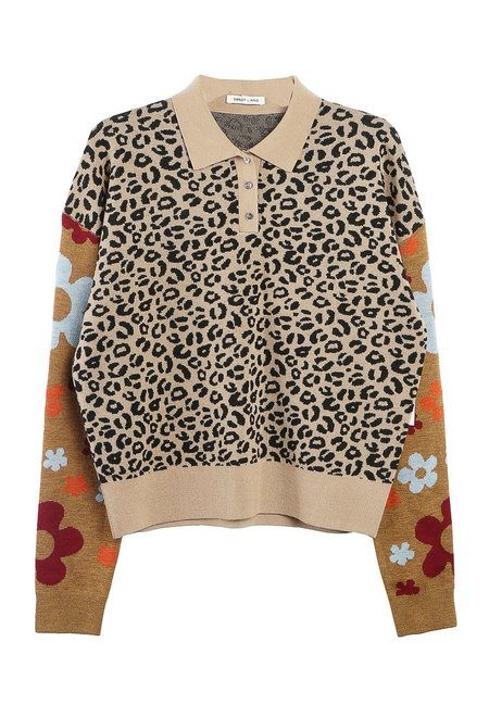 Sandy Liang Paw Paw Sweater - Leopard Floral