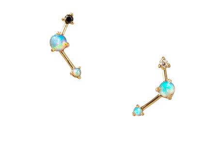 WWAKE 14k Three Step Ballon Earring