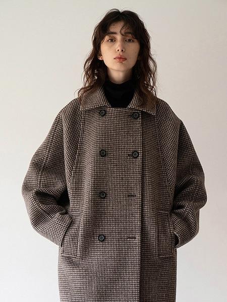 Chungpepe Wide Sleeve Coat - Brown
