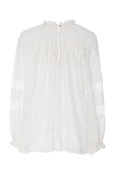 Ulla Johnson Nanon Blouse - Pearl