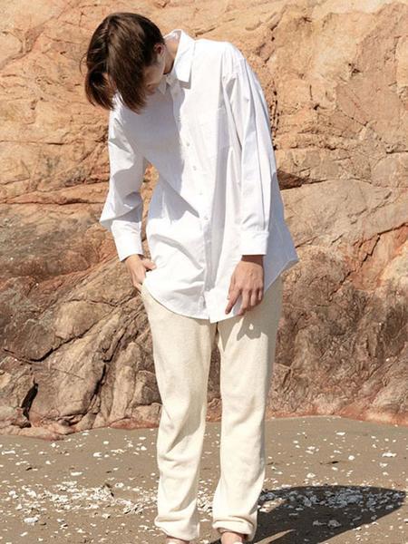 HASTO Pancoco Organic Cotton Sweatpants - Ivory