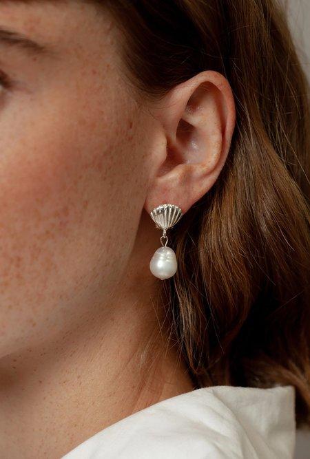 Wolf Circus Marcel Pearl Stud Earrings - Sterling Silver/Pearl
