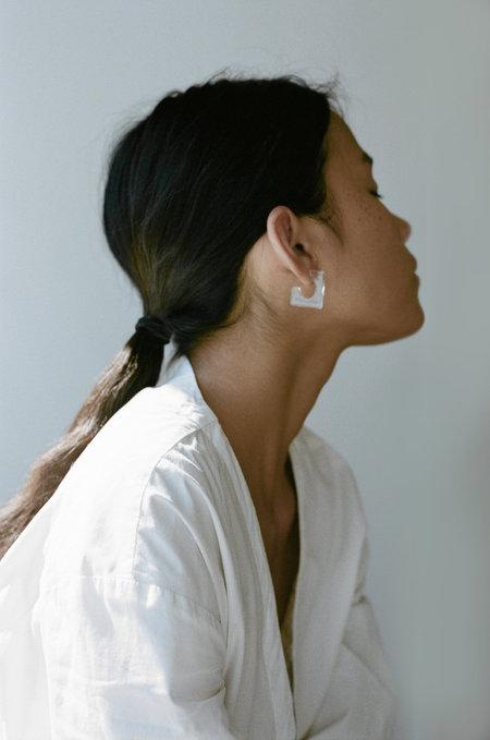 HighLow Glass Square Earrings