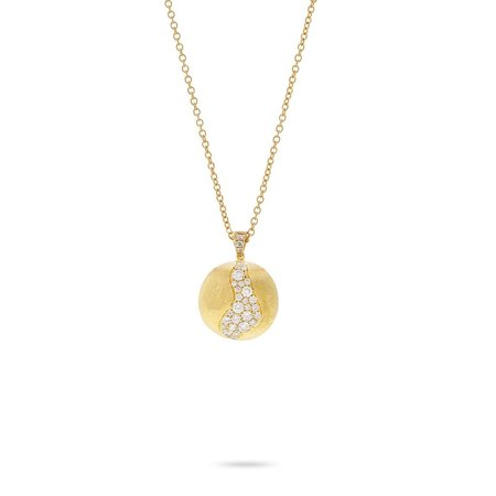 Marco Bicego Africa 18K Yellow Gold and Diamond Africa Constellation Long Pendant