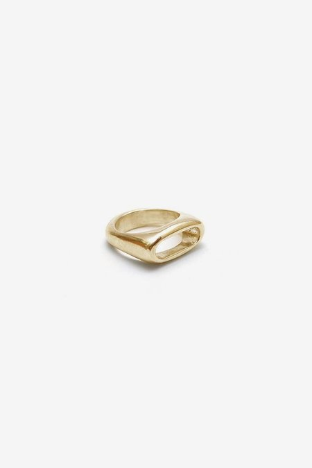 Unisex Seaworthy Cordetta Ring - Brass