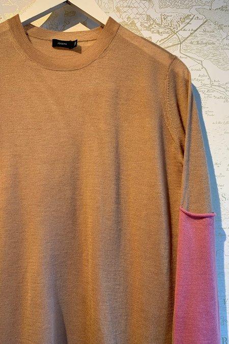 Joseph Cashair Patch Crew Neck Sweater - CAMEL