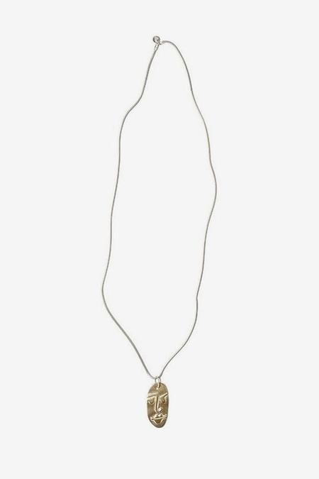 Seaworthy Two Faced Necklace - Brass