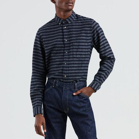 Levi's Made & Crafted Standard Shirt - Indigo Check Blue