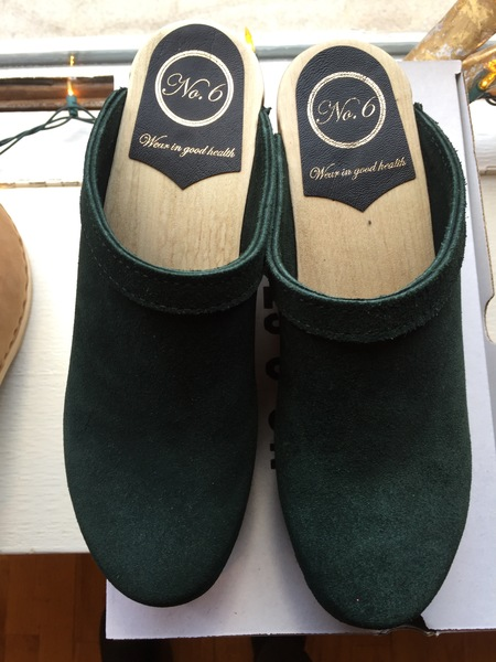 No.6 Old School Mid Wedge Clog - Clover