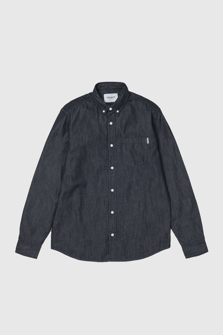 CARHARTT WIP Long Sleeve Civil Shirt - Blue Rinsed