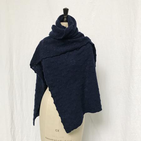 Ros Duke Pure Cashmere Polka scarf - blue