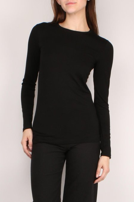 L'agence Tess Crew Neck Long Sleeve - BLACK