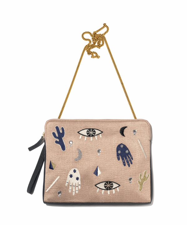 Lizzie Fortunato Safari Clutch in Voodoo