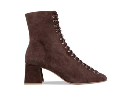 BY FAR Becca Suede Boot - Brown
