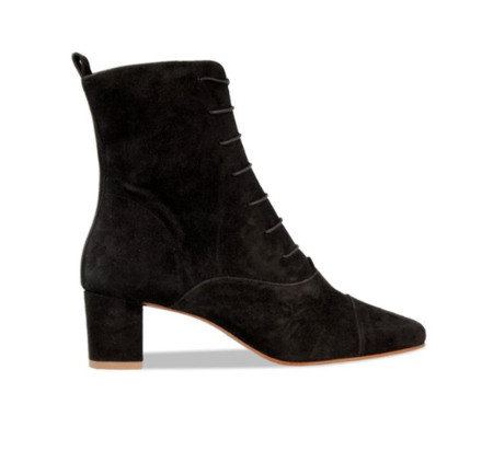 BY Far Lada Suede Boot - Black
