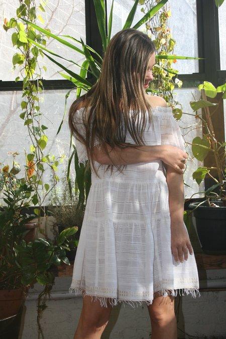 LEMLEM Kelali Off Shoulder Dress - White