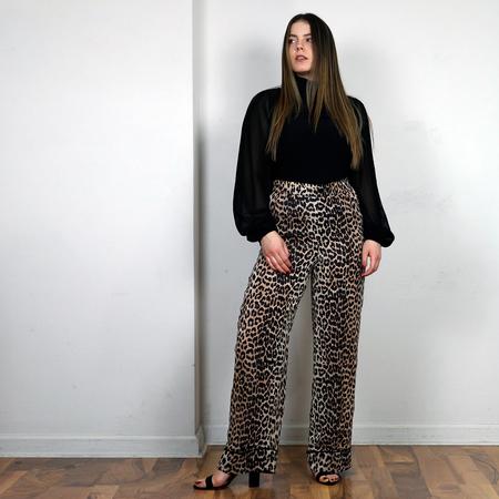 Ganni Mullin Georgette Pant - Leopard
