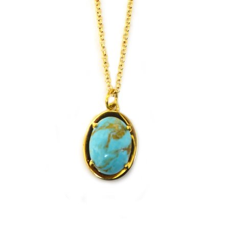 La Kaiser My Whole World Copper and Turquoise Pendant