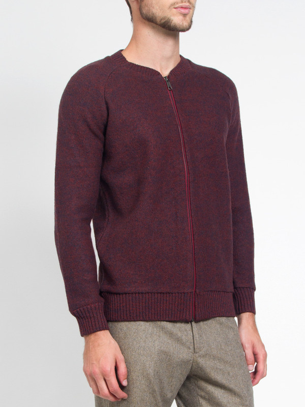 Men's Journal Boiled Melange Cardigan Sweater