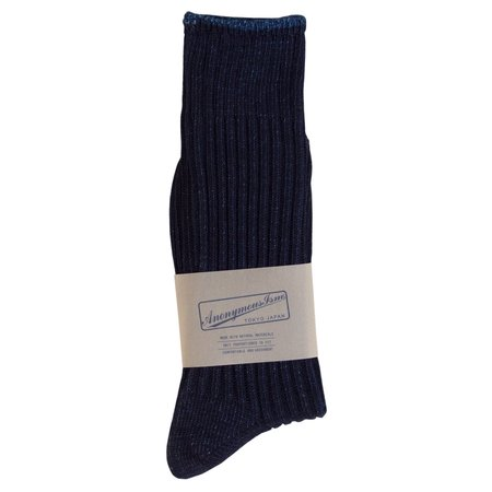Anonymous Ism Ribbed Dye Sock - Indigo
