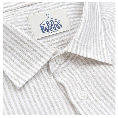 B.D. Baggies Bradford Shirt - Beige Stripe