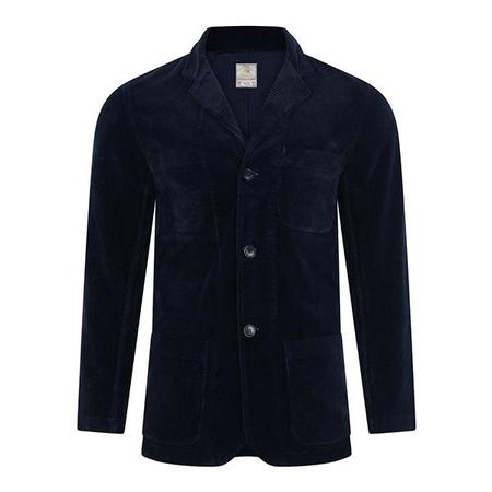 Burrows and Hare Cord Blazer - Navy