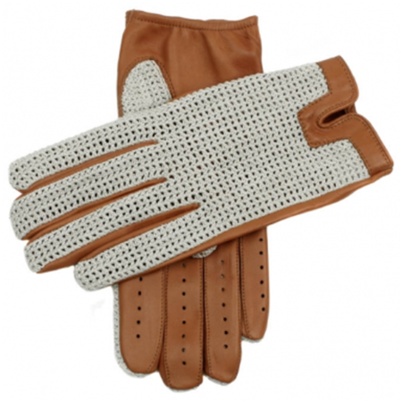 DENTS Donnington Crochet Back Leather Driving Gloves - Cork
