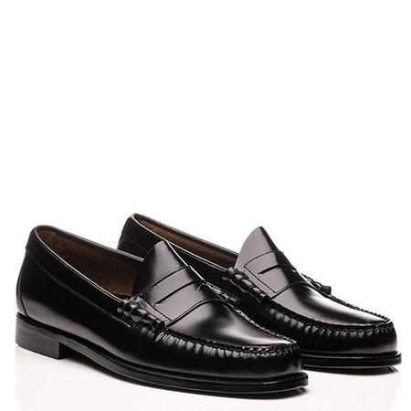 G.H Bass Weejuns Handmade Larson Pull Up Penny Loafers - BLACK