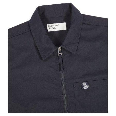 Universal Works Zip Uniform Shirt - Navy