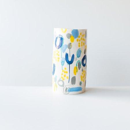 Isabelle Simard Very Large Decorated Ceramic Vase