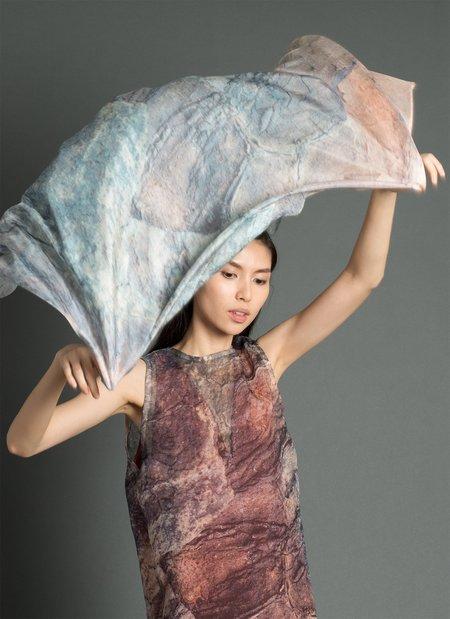 KAAREM Eel Printed Printed Silk Scarf - Khaya Print