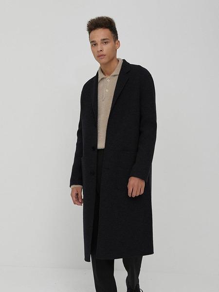 CHRISCHRISTY Handmade Single Breasted Coat - Black