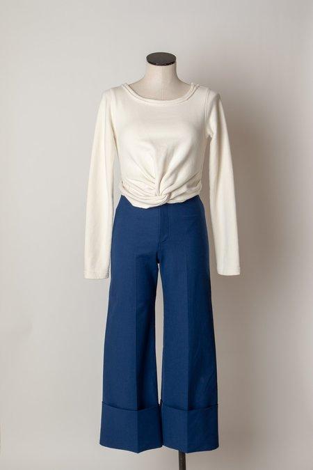 SEA Lennox Classic Cuff Pants - BLUE