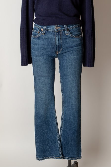 RE/DONE Mid Rise Kick Flare Crop