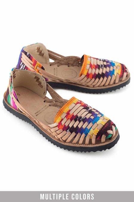 Ix Style Woven Leather Huarache Sandals - Multi