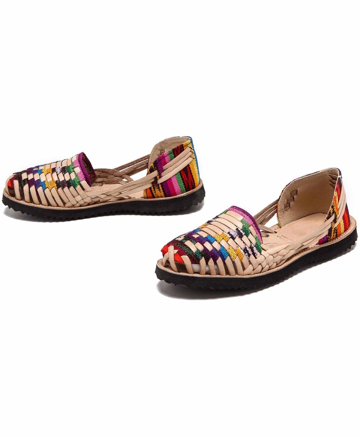 adcfa25e59049 Ix Style Woven Leather Huarache Sandals - Multi