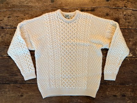 VINTAGE Preloved Aran Sweater - Natural