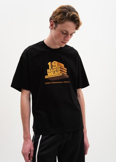 Doublet 19SS 3D Embroidery T-Shirt - Black