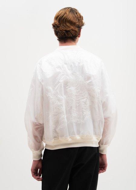 Doublet Transparent Embroidery Souvenir Jacket - Clear