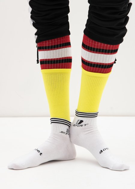 Doublet White 3 Layered Sports Socks - Multi