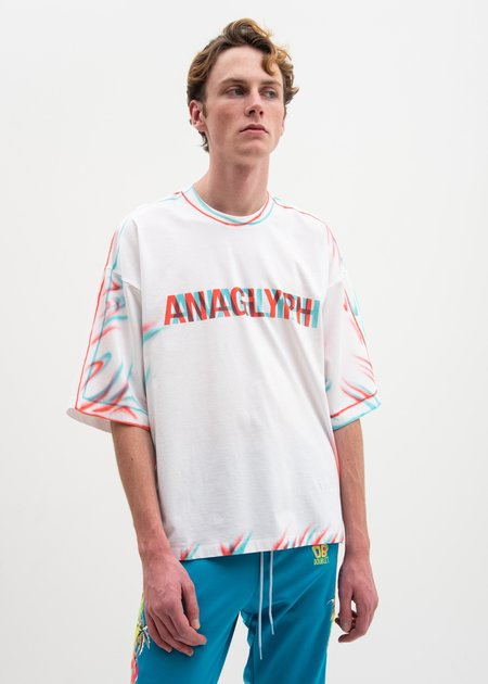Doublet Anaglyph Hand-Painted T-Shirt - White