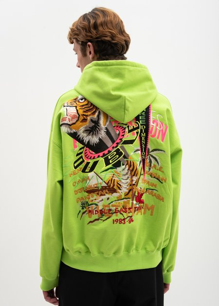 Doublet Chaos Embroidery Hoodie - Yellow Green