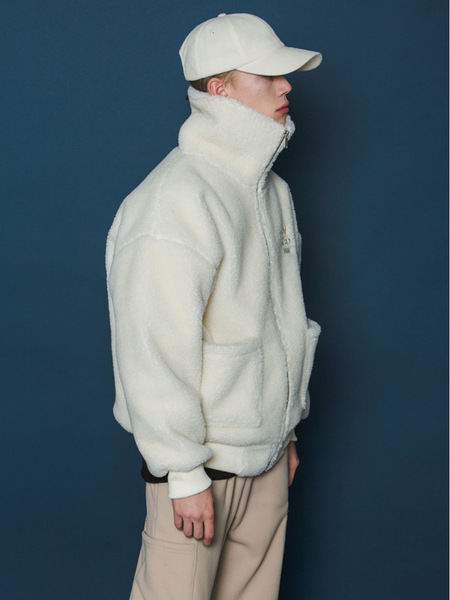 Unisex Slowacid Boa Fleece Jumper - Ivory