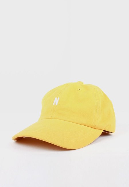 Unisex Norse Projects N Logo Cap - Sunwashed Yellow