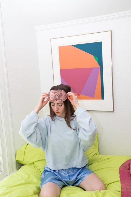 STRATHCONA STOCKINGS Silk Eye Mask - Pink Snake