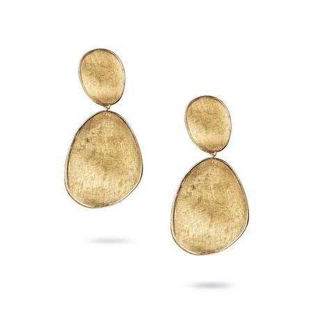 Marco Bicego Lunaria Collection Large Double Drop Earrings - 18K Yellow Gold