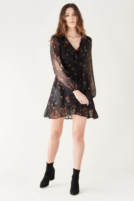 PAIGE SHAWNA DRESS - DARK RUST-FALLING