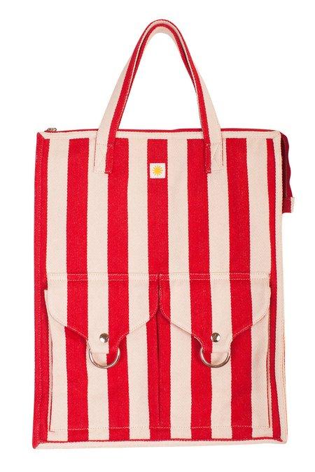L.F.Markey Striped Beach Bag - Red
